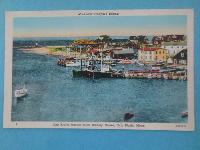 Image for Postcard Martha's Vineyard Oak Bluffs Harbor from Wesley House (unused)