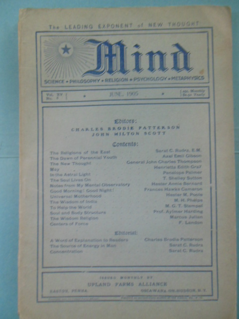 Image for Mind Magazine (New Thought, June, 1905)