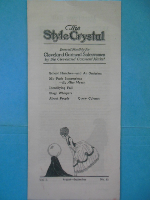 Image for The Style Crystal Issued Monthly for Cleveland Garment Saleswomen  (1922)