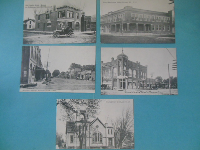Image for Eleven Historic Postcards Bowen, Illinois (reprints as new)