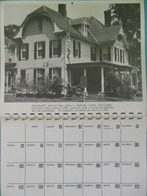 Calendar 1969.Western Reserve Landmark Calendar 1969 Ohio Photos Calendar Unused