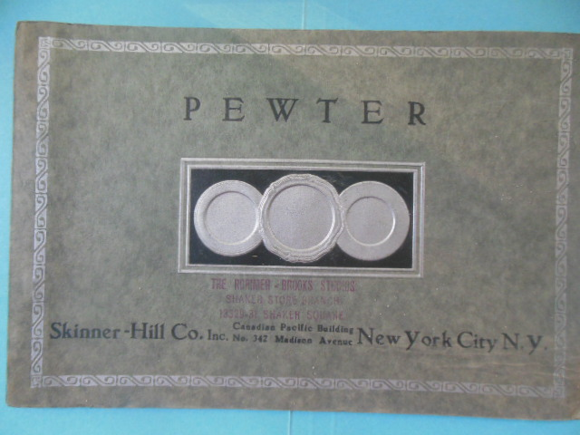 Image for Skinner-Hill Company, New York City. Pewter. 1930's