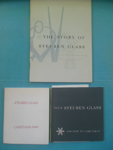 Image for The Story of Steuben Glass; Your Steuben Glass and How to Care For It; Steuben Glass Christmas, 1969