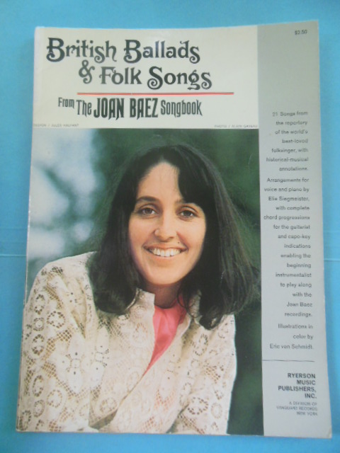 Image for British Ballads and Folk Songs From the Joan Baez Songbook 1967