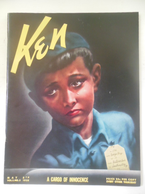 Image for Ken Magazine May 5, 1938. Spanish Children Refugees.Nazi Propaganda Industry