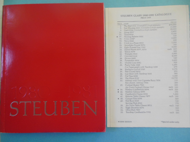 Image for Steuben Glass Catalog and Price List 1980-1981