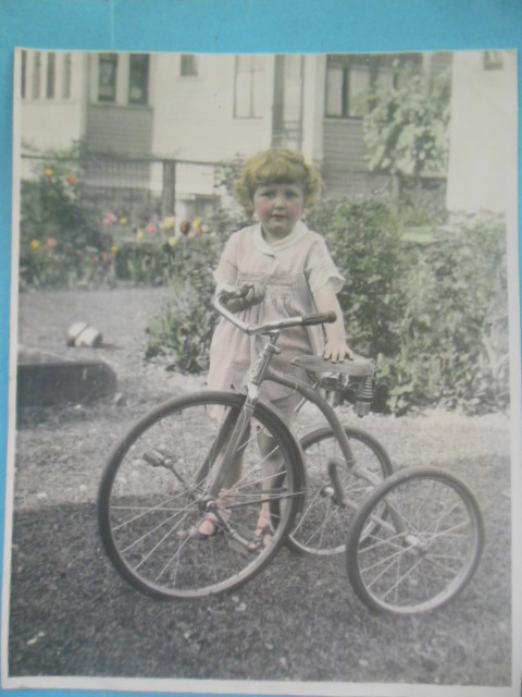 Image for Tinted Photograph: Little Girl Big Tricycle