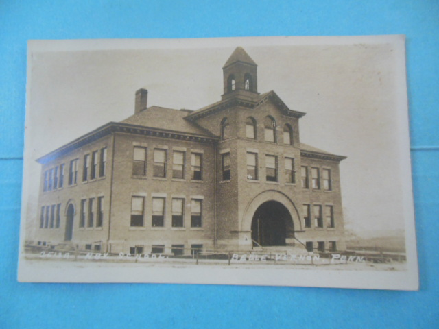 Image for Real Photo Postcard. New School Belle Vernon, PA