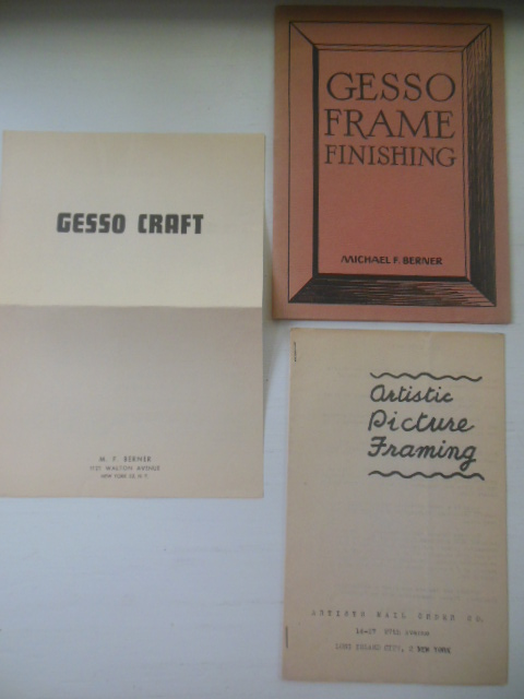 Image for Gesso Frame Finishing 1947. Two Extra Gesso Booklets
