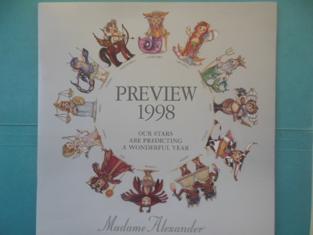 Image for Madame Alexander 1998 Preview Doll Catalog; Our Stars Are Predicting A Wonderful Year