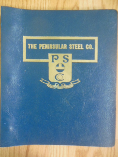 Image for The Peninsular Steel Company: Fine Tool Steels -- 21 Brochures in a Binder