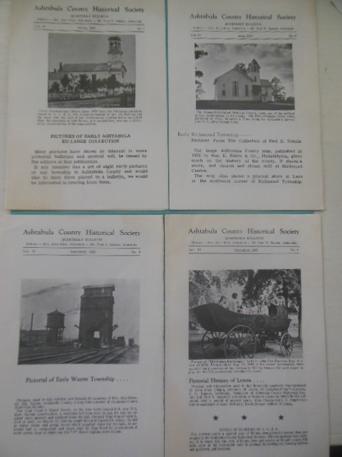 Image for Ashtabula County Historical Society Quarterly Bulletin; Four Issues 1969