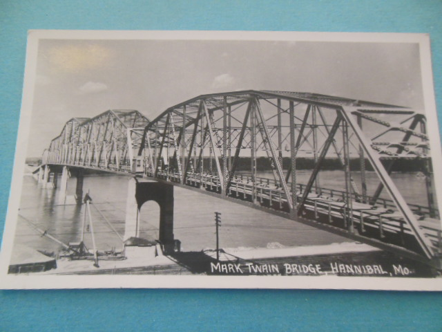 Image for Real photo postcard: Mark Twain Bridge, Hannival Mo.