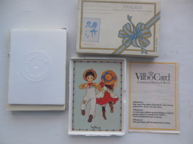 Image for French Ceramic VilboCard with Catalog and Original Box