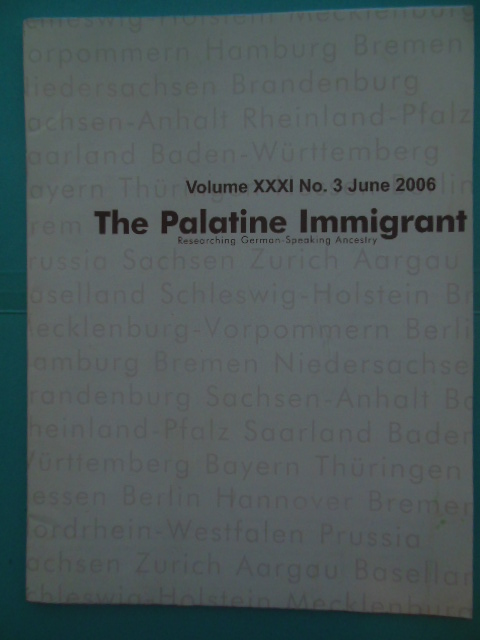 Image for The Palatine Immigrant June 2006