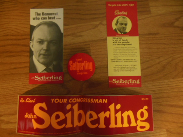 Image for Rep.John Seiberling Campaign Collectibles 1970