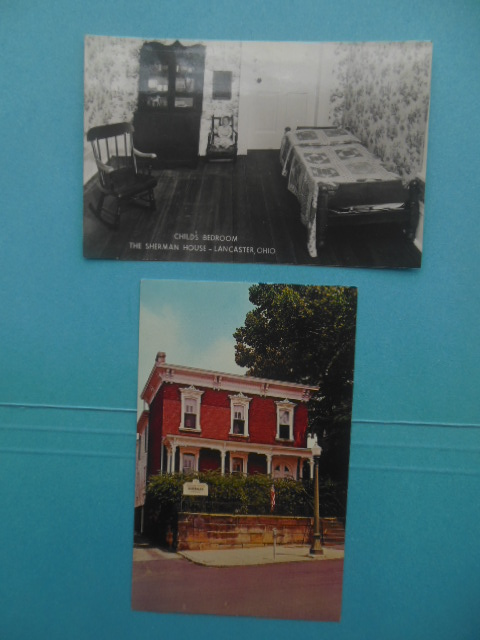 Image for Postcards William Techumseh Sherman House Lancaster, Ohio