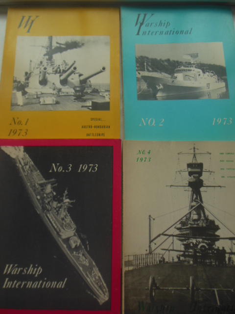 Image for Warship International Magazine 1973 Full Run Four Issues