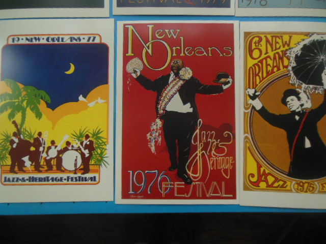Image for New Orleans Jazz Festival PosterCards -- 1975 -1983. Nine Cards