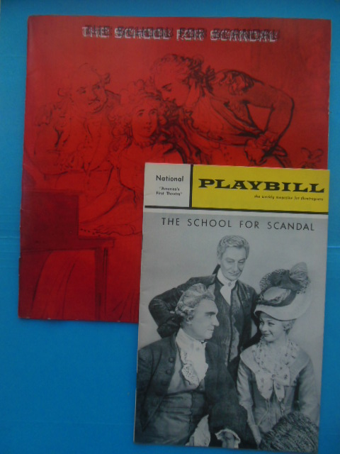 Image for Playbill The School For Scandal April 8, 1965, plus Souvneir Book