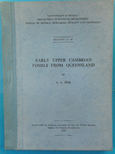 Image for Early Upper Cambrian Fossils  From Queensland, 1963