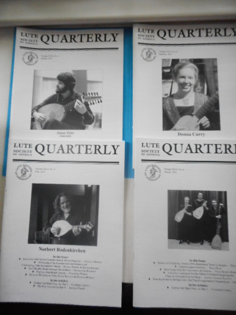Image for Lute Society of America Quarterly Magazine 2011. Full Run, Four Issues
