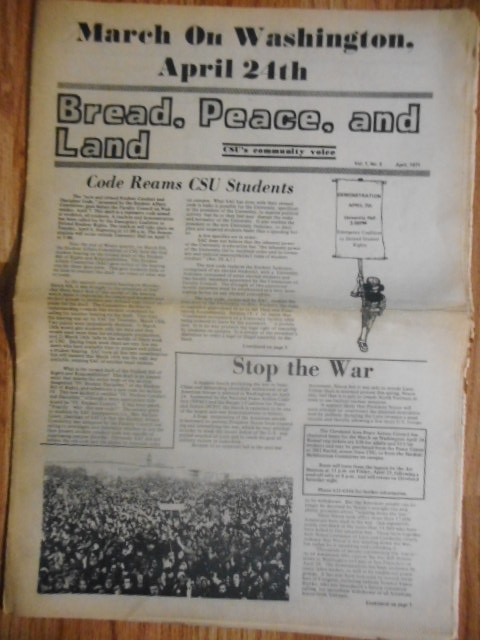 Image for Bread, Peace and Land: Cleveland State University's Community Voice - April, 1971
