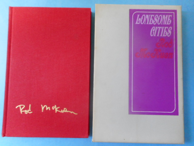 Image for Lonesome Cities by Rod McKuen. Deluxe Edition SIGNED