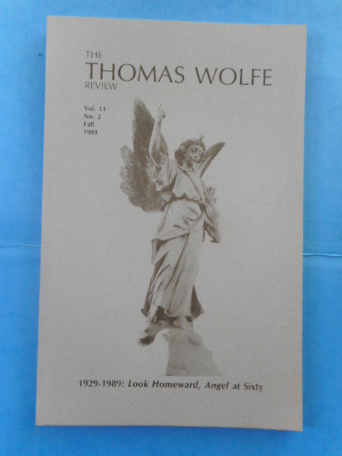 Image for The Thomas Wolfe Review: 1929-89 Look Homeward, Angel at Sixty, 1989