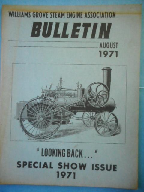 Image for Williams Grove Steam Engine Association August 1971.Special Show Issue