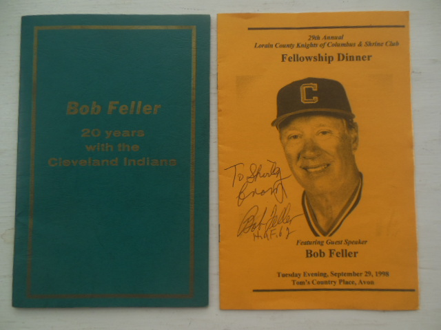 Image for Bob Feller 20 Years with the Cleveland Indians; 29th Annual Lorain County Fellowship Dinner Sept. 29, 1998