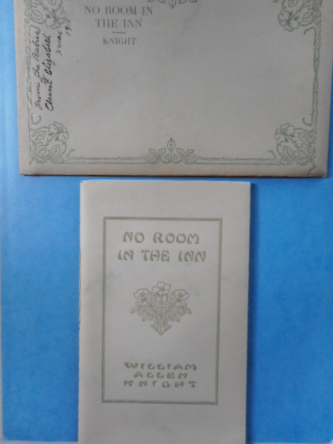 Image for No Room In the Inn, 1910 with  No Room in the Inn 1910 with original envelope