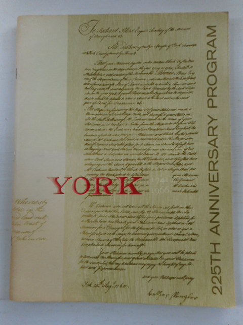 Image for York, Pennslvania 225th Anniversary Program