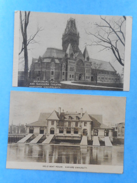 Image for Memorial Hall and Sanders Theatre, Harvard University; Welt Boat House, Harvard University, 1912