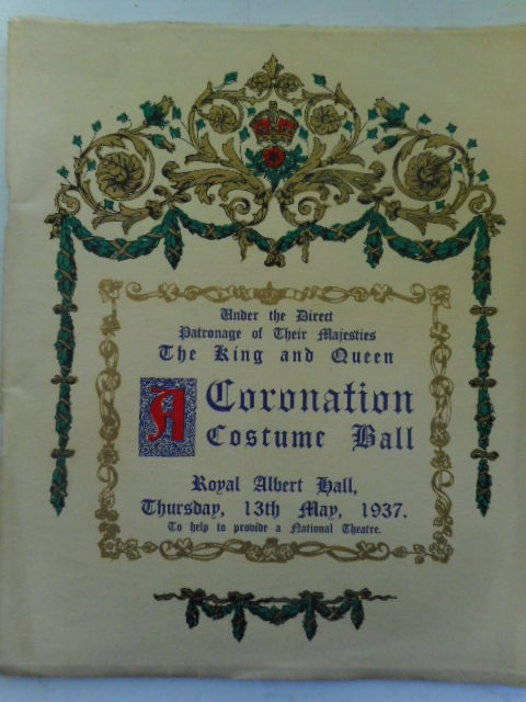 Image for A Coronation Costume Ball Under the Direct Patronage of Their Majesties 1937