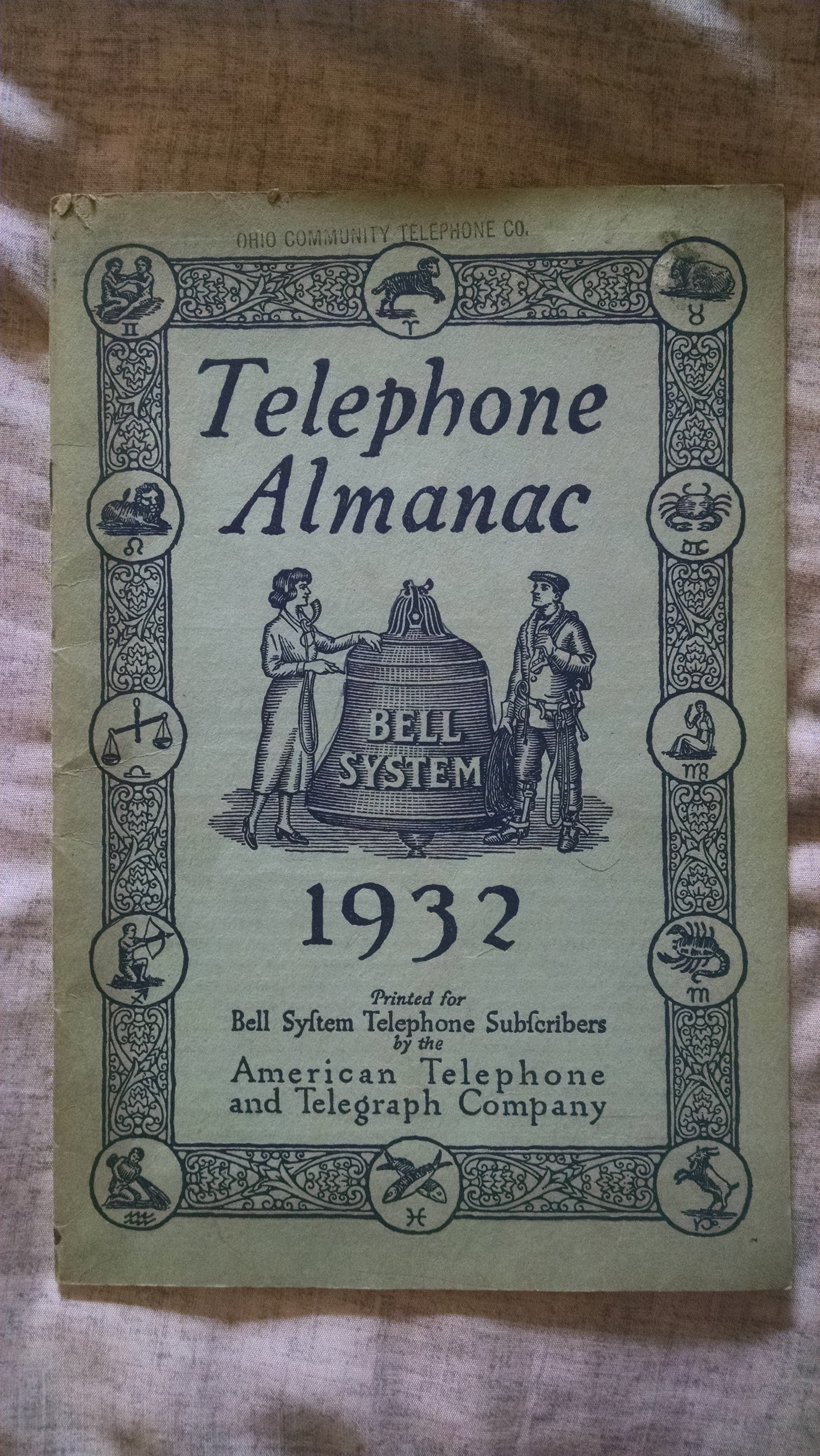 Image for TELEPHONE ALMANAC 1932