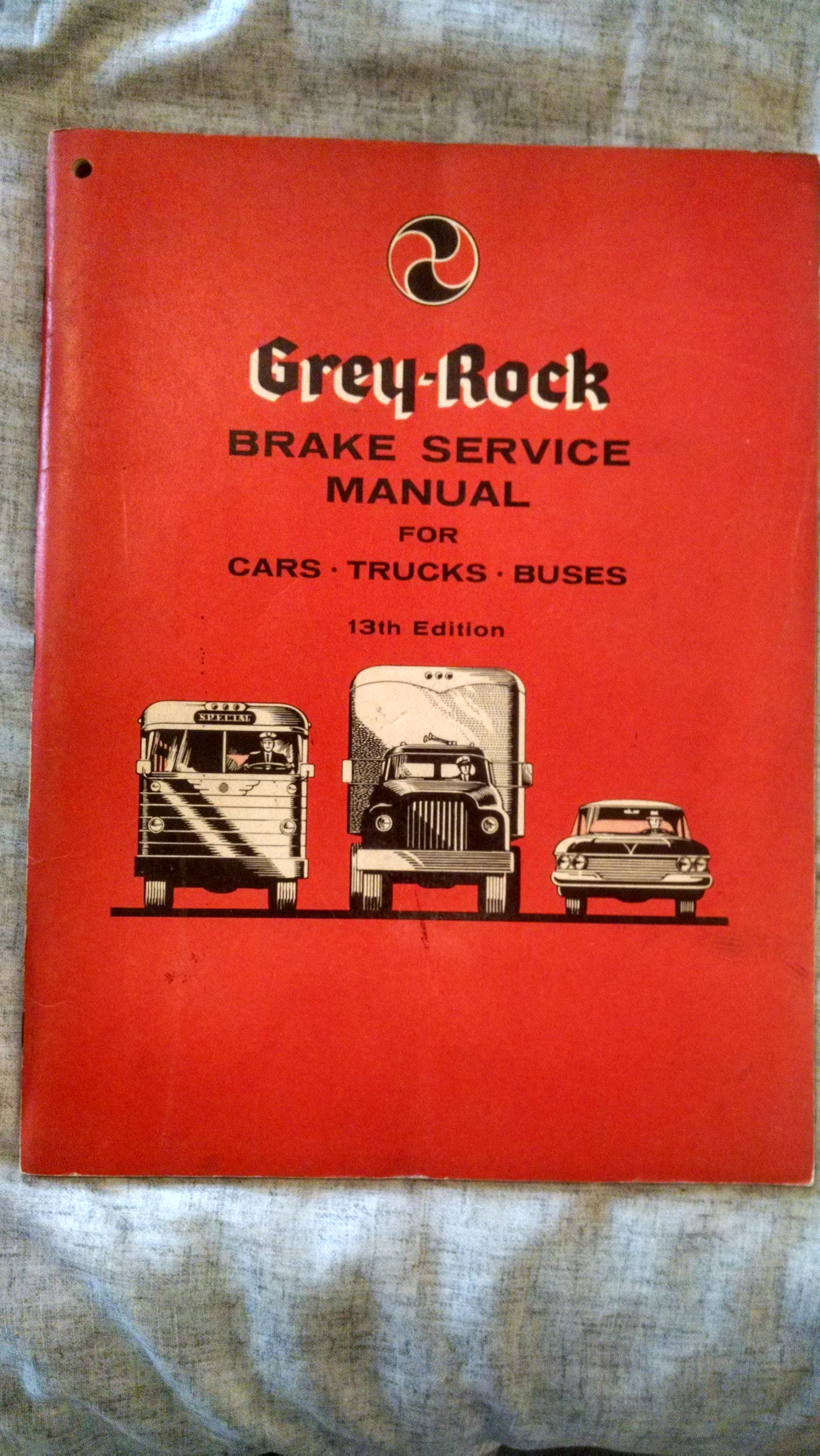 Image for GREY -ROCK BRAKE SERVICE MANUAL FOR CARS-TRUCKS- BUSES 13TH EDITION