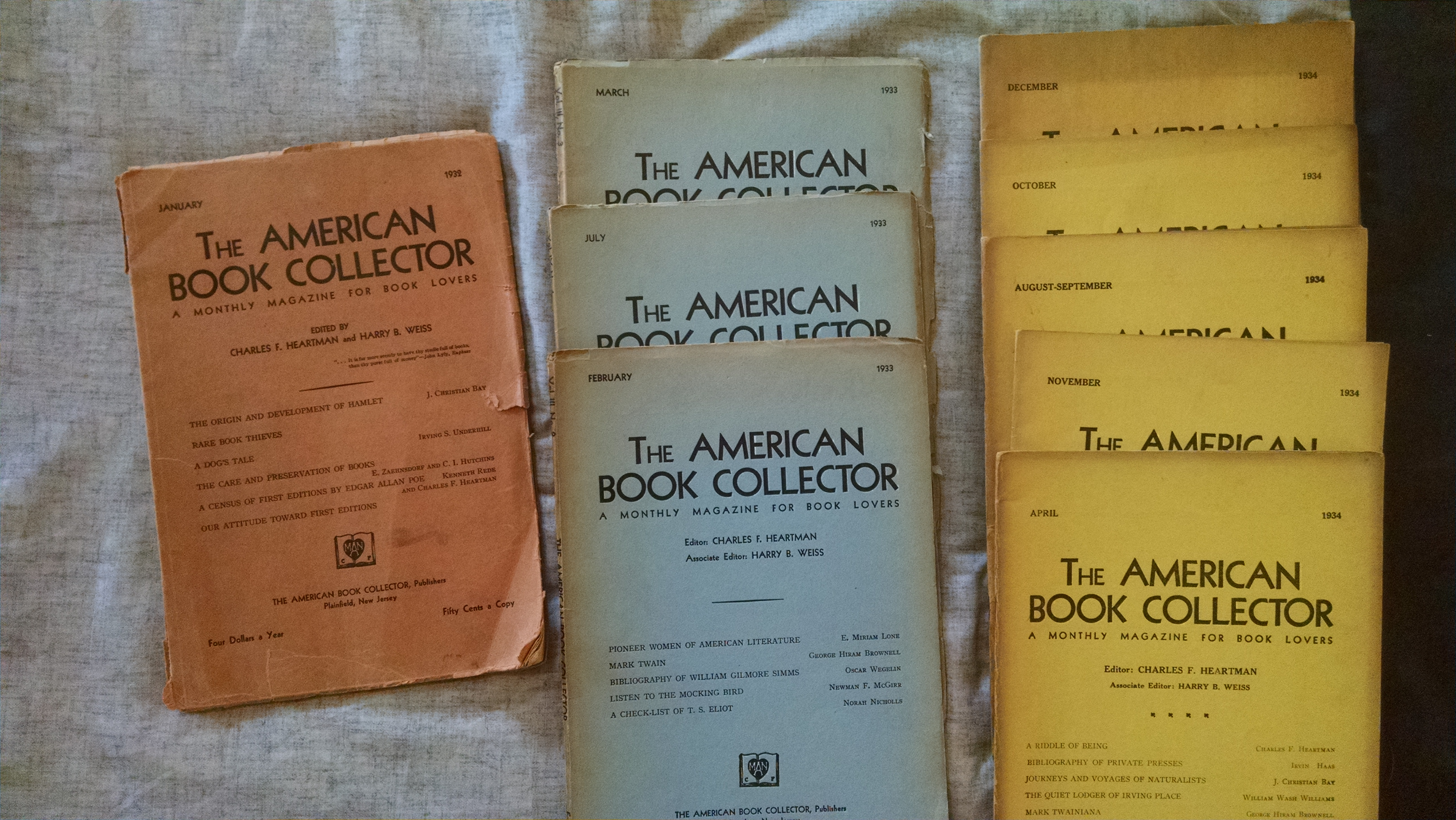 Image for THE AMERICAN BOOK COLLECTOR