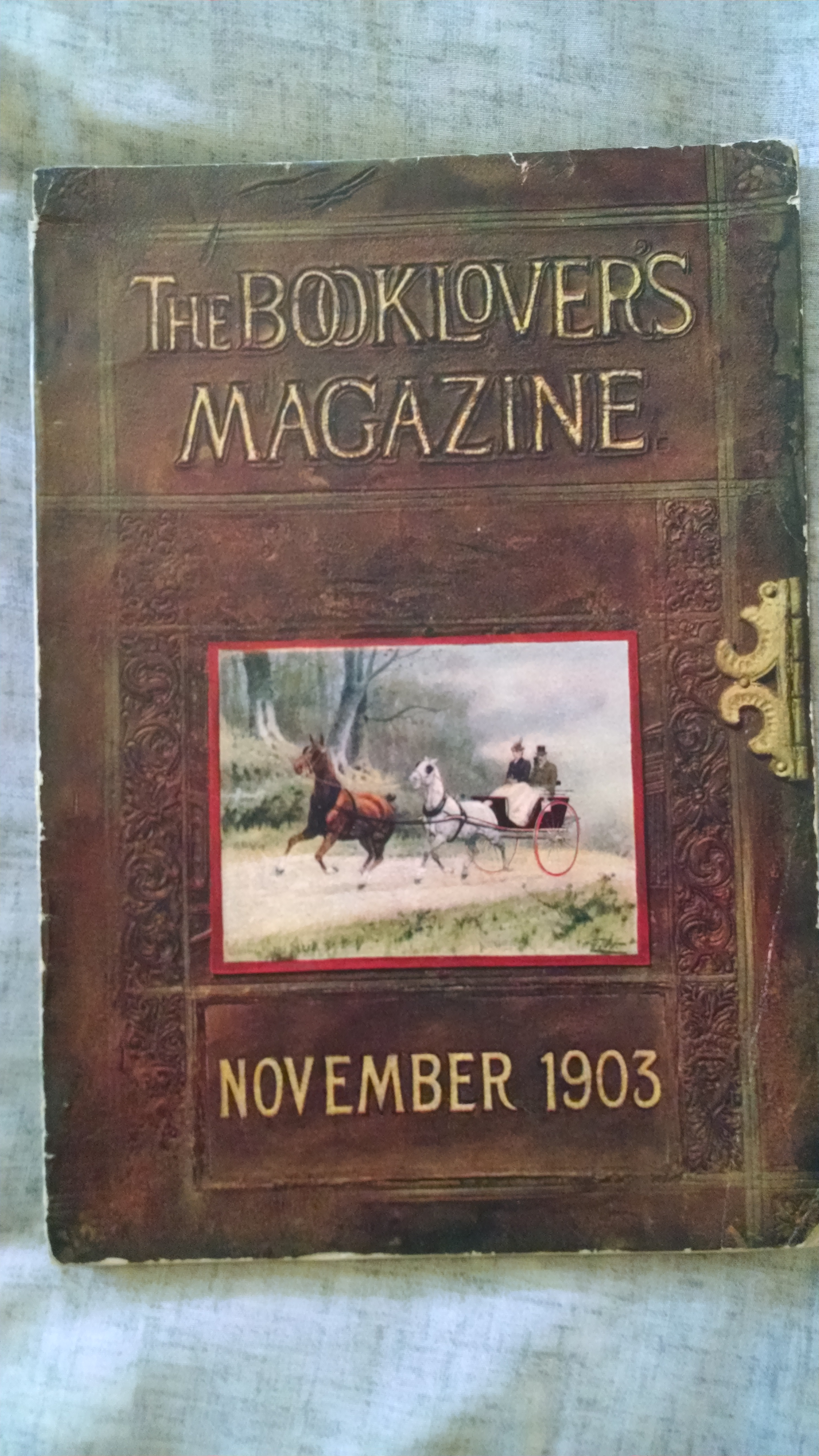 Image for THE BOOKLOVERS MAGAZINE  NOVEMBER 1903