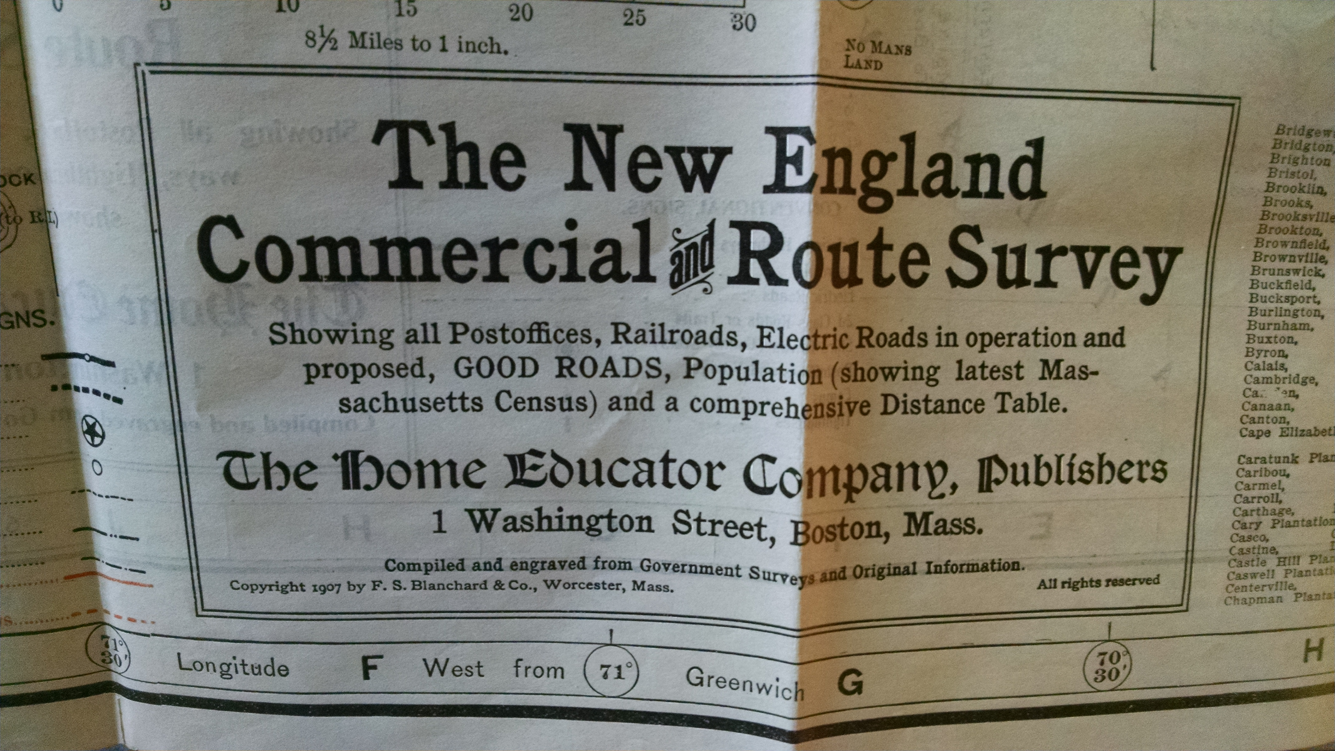 Image for NEW COMMERECIAL , SPORTSMEN'S AND ROUTE SURVEY OF MAINE