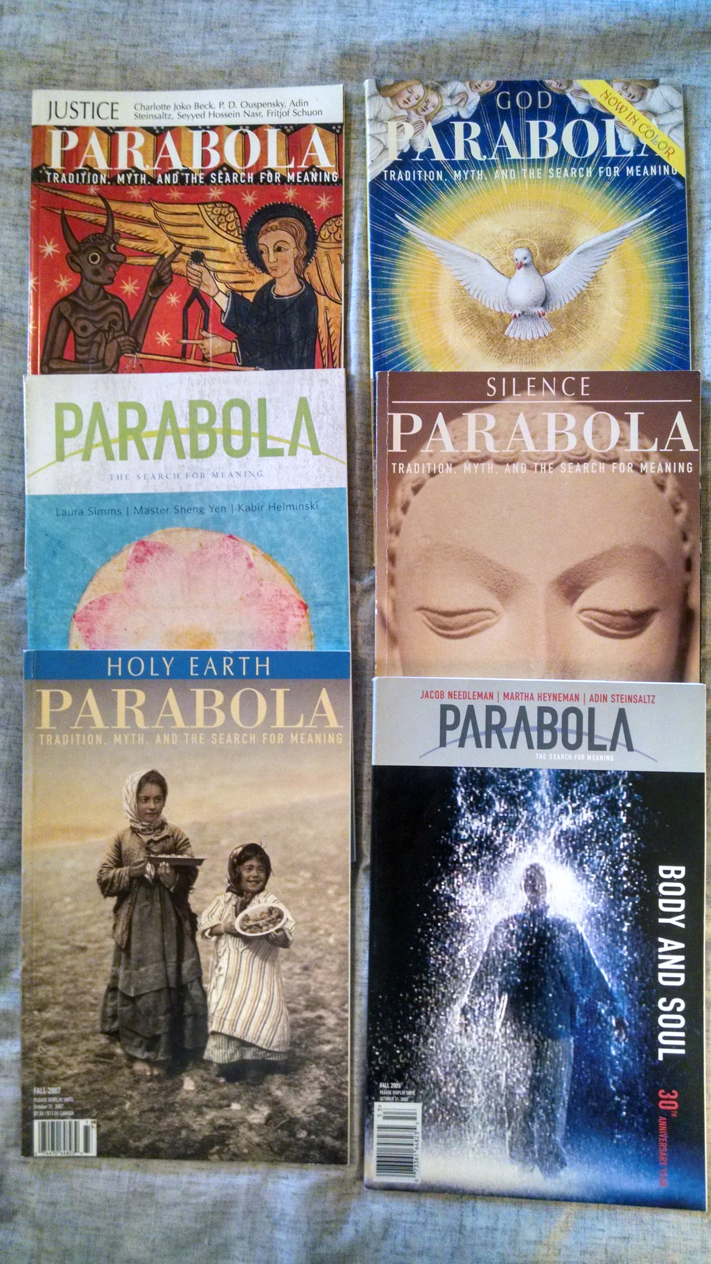Image for PARABOLA TRADITION ,MYTH AND SEARCH FOR TRUTH      6 ISSUES