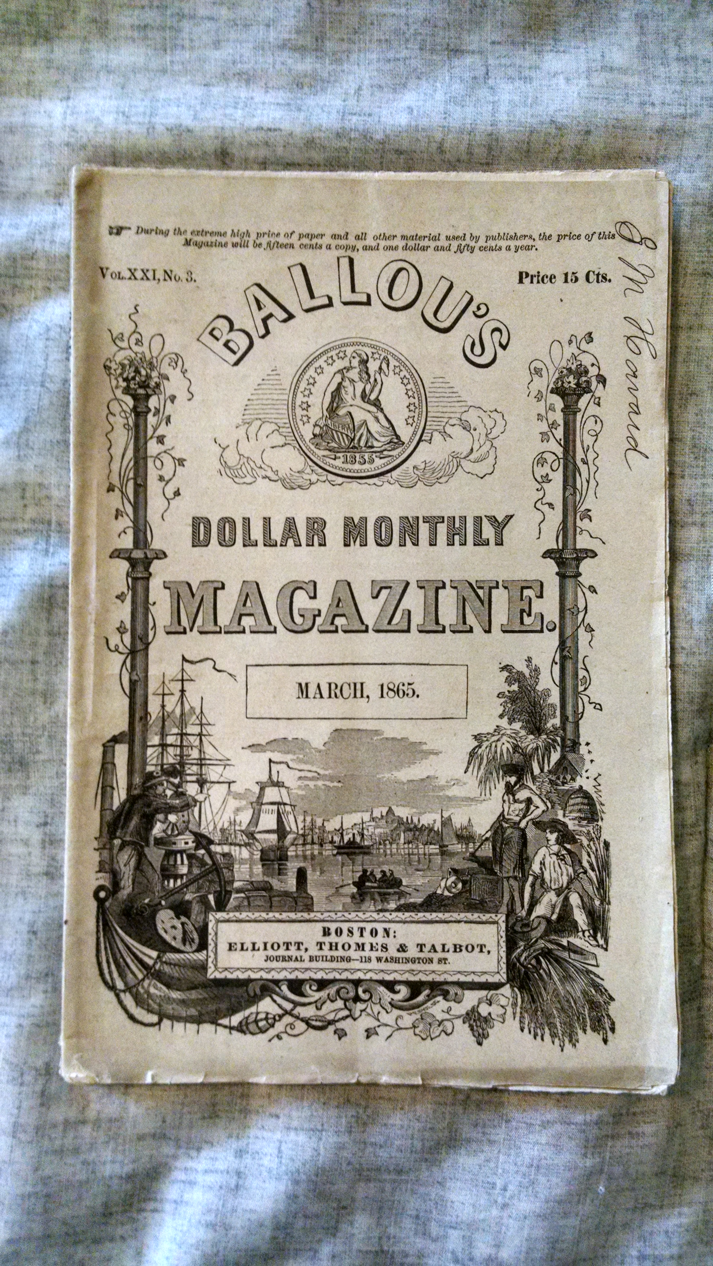 Image for BALLOU' DOLLAR MONTHLY MAGAZINE  MARCH 1865