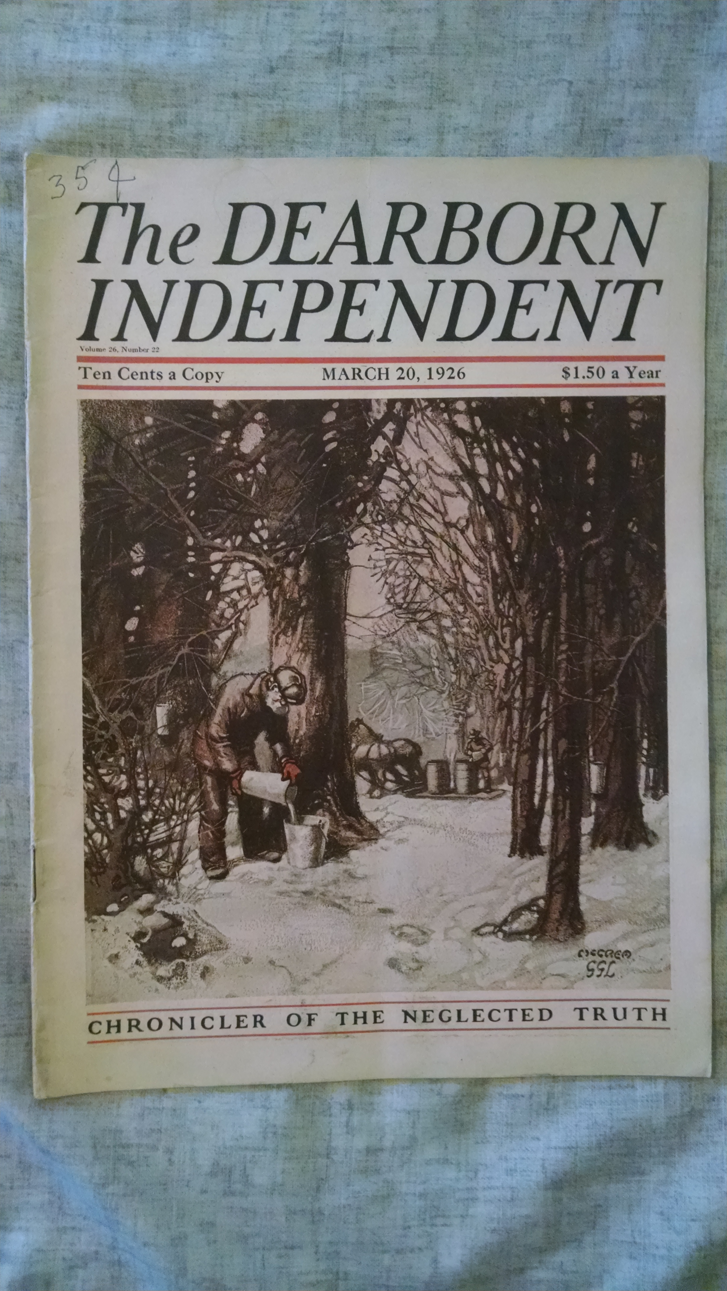Image for THE DEARBORN INDEPENDENT  MARCH 20 1926