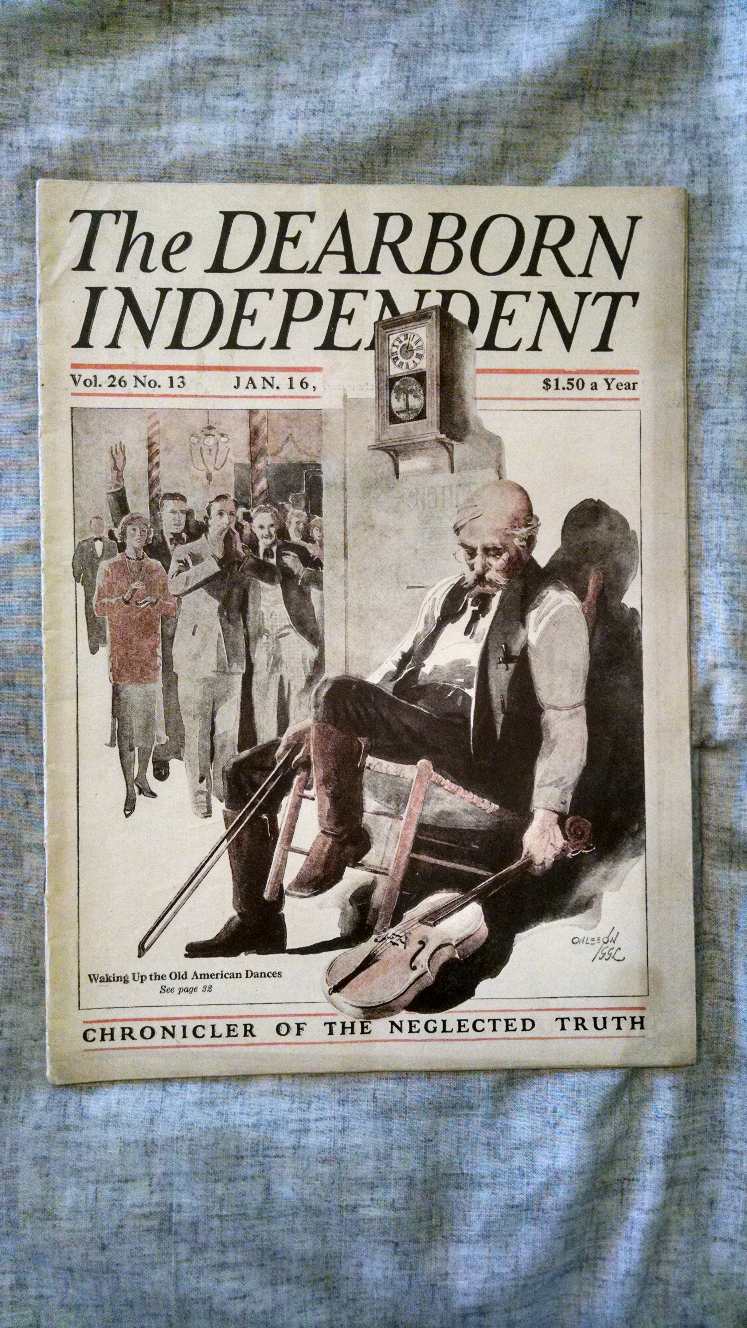 Image for THE DEARBORN INDEPENDENT   JAN. 16 1926