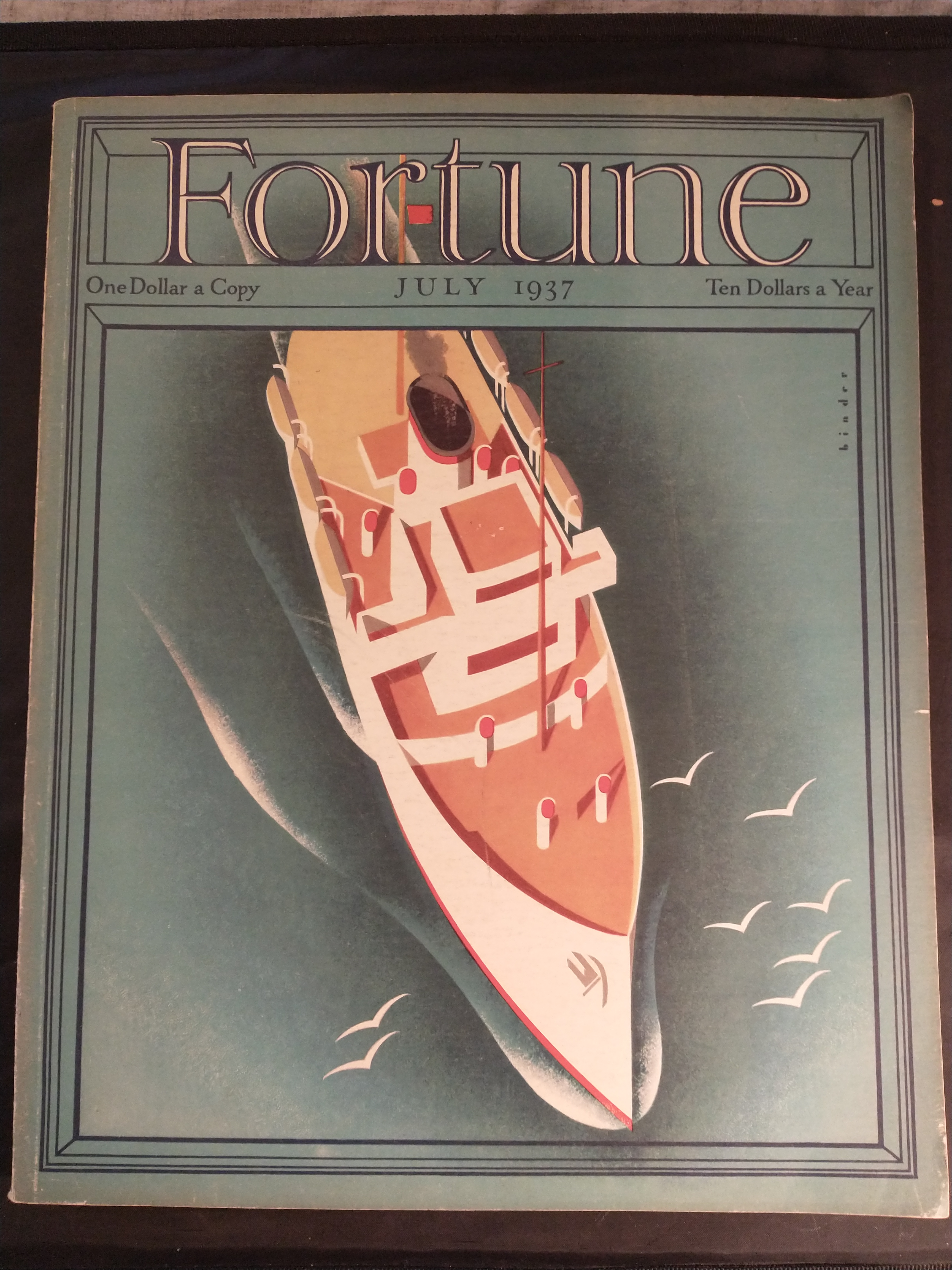Image for FORTUNE MAGAZINE JULY 1937