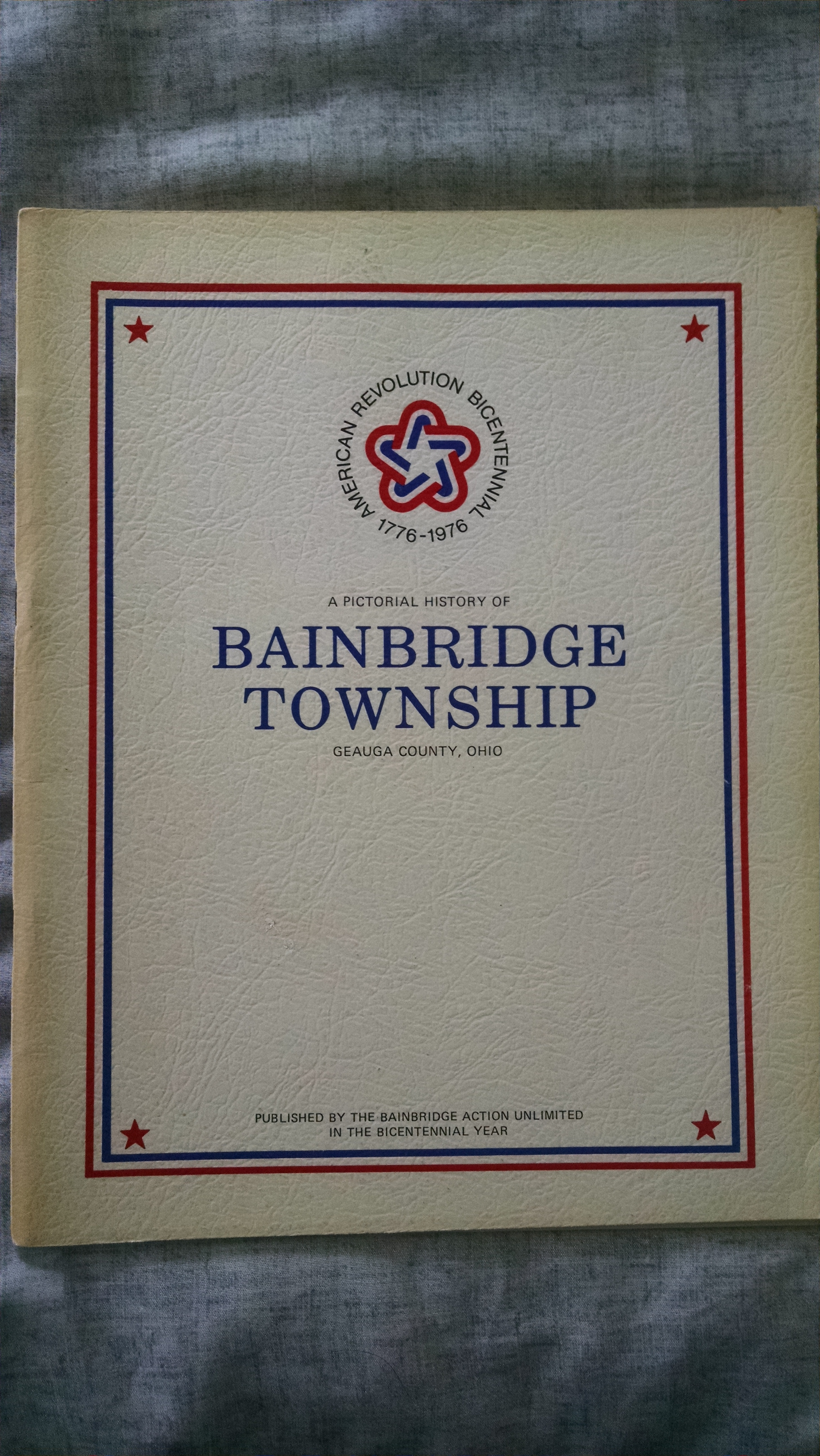 Image for A PICTORIAL HISTORY OF BAINBRIDGE TOWNSHIP GEAUGA COUNTY OHIO