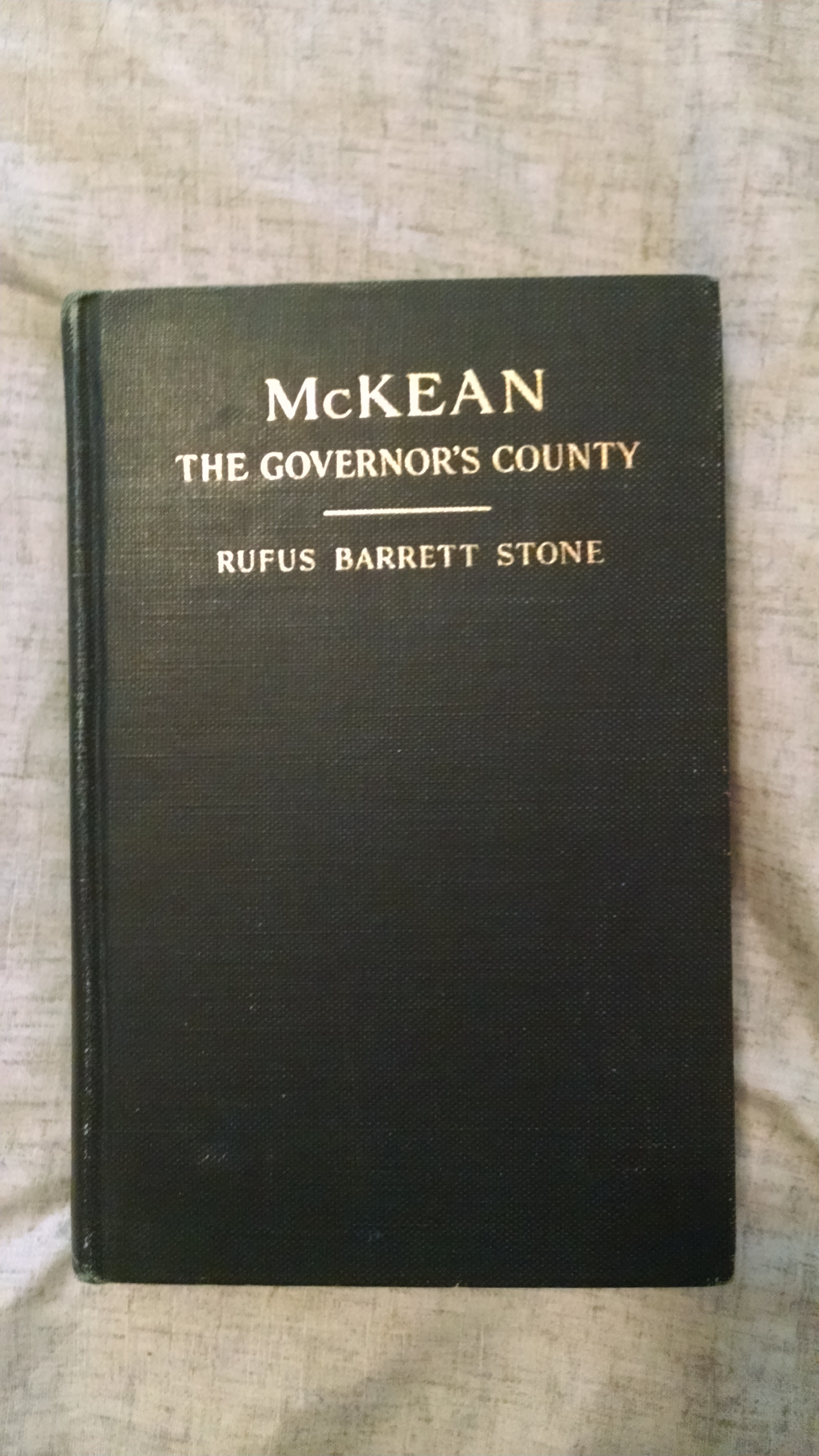 Image for McKEAN  THE GOVERNOR'S COUNTY